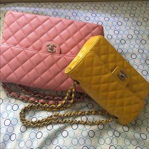 Authentic Chanel Pink Caviar Jumbo Flap Bag
